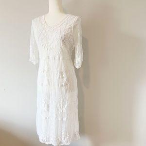 Orange Creek White Lace Dress